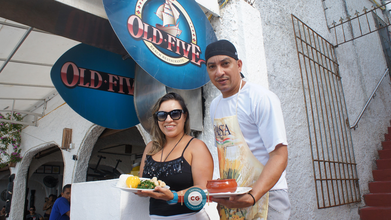 Ísis Melo, proprietária do Old Five, e o chef Davi Filho