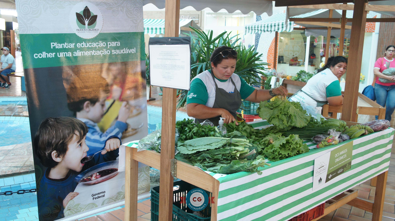 Feira de orgânicos acontece todo sábado no Shopping Cidade Jardim