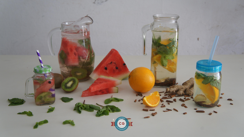 Água para saborear e refrescar