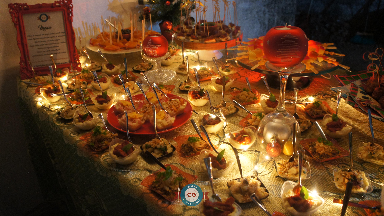 Nossa mesa de aperitivos do Natal