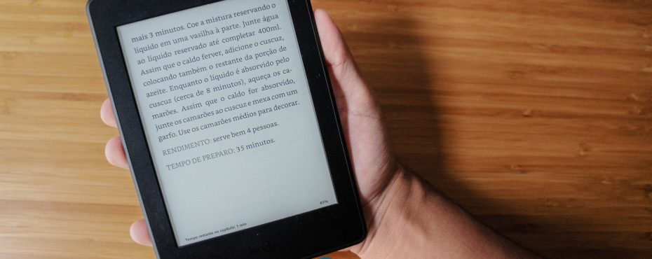 Receita digital no Kindle