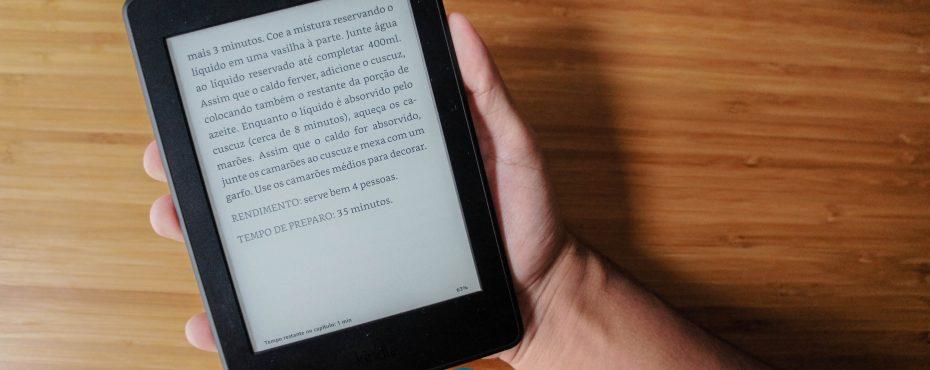 Receita digital no Kindle