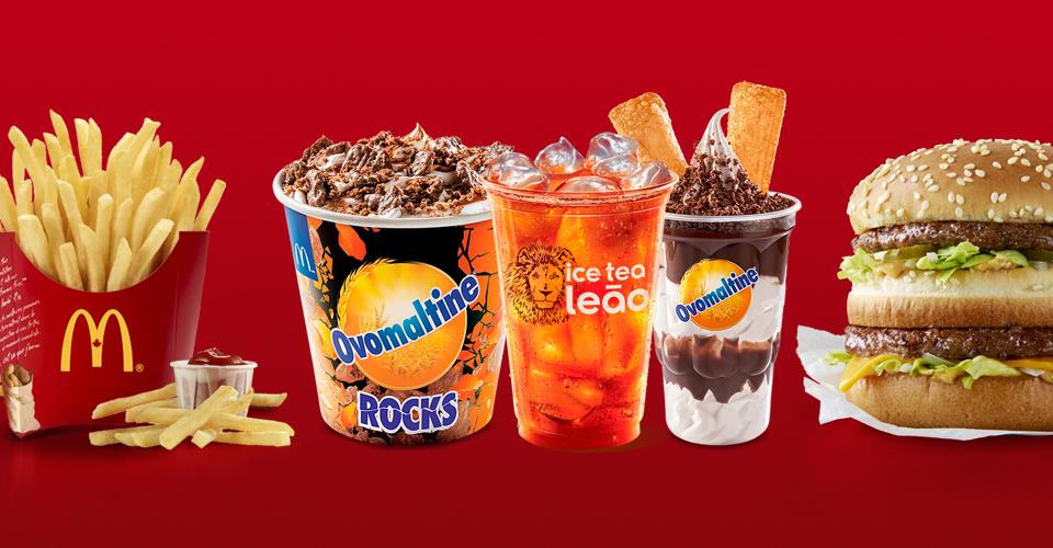 McDonald's lança sobremesas com Ovomaltine e apresenta chás gelados