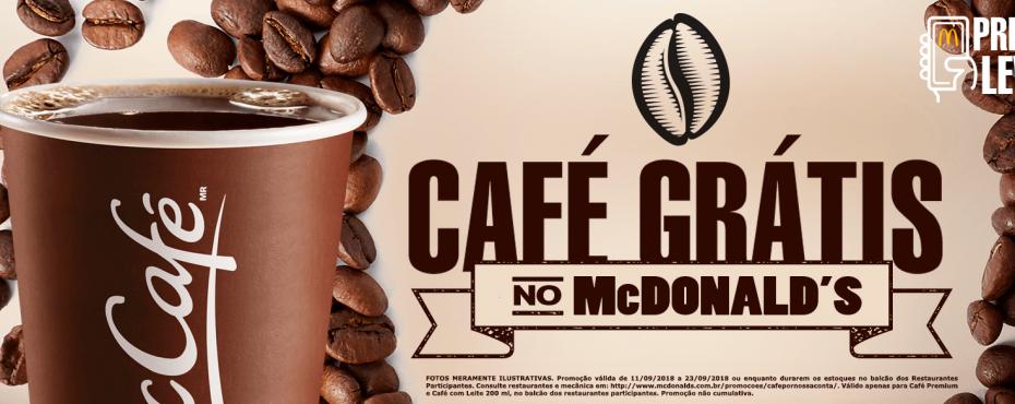 McDonald's distribui café grátis em restaurantes da rede