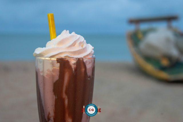 Milkshake de Morango com Nutella