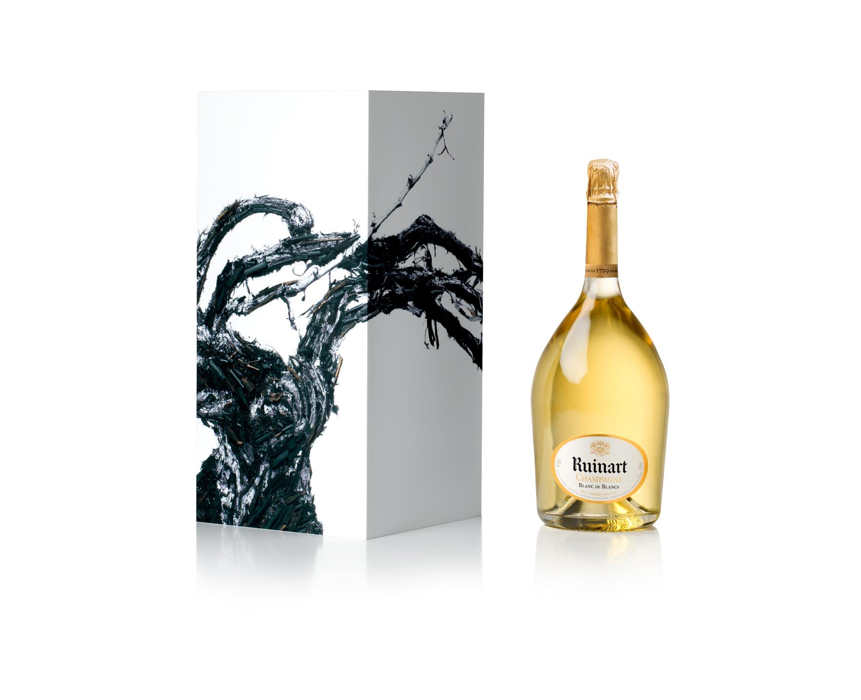 30 garrafas de Ruinart têm obra assinada por Vic Muniz