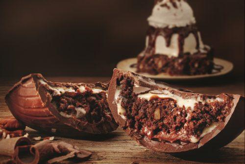 Ovo de Páscoa com brownie é sucesso em steakhouse