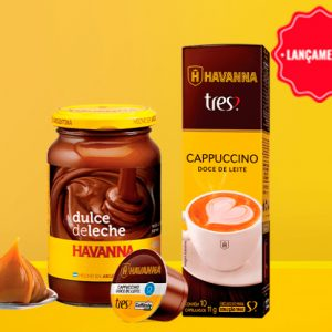 TRES e Havanna se unem em cápsula de capuccino doce de leite