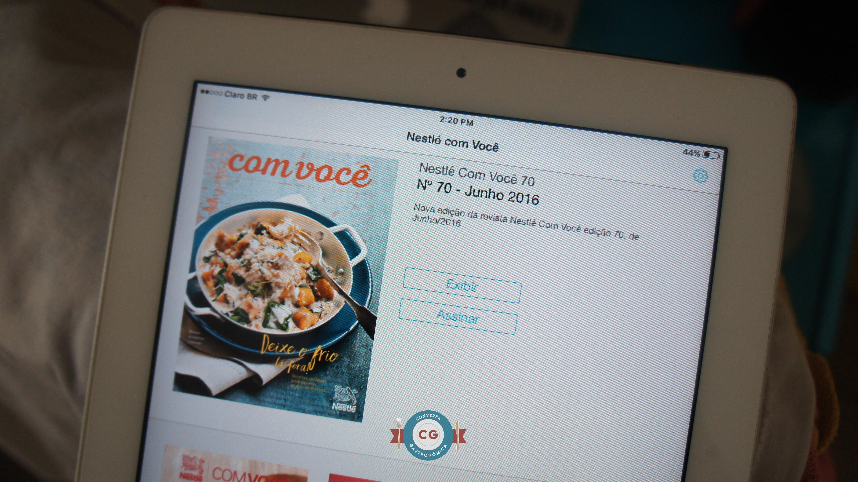 Revista Nestlé pra Você, disponível para iPad