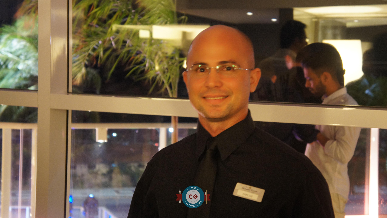 Carlos Daniel, garçom e barman com 15 anos de experiência