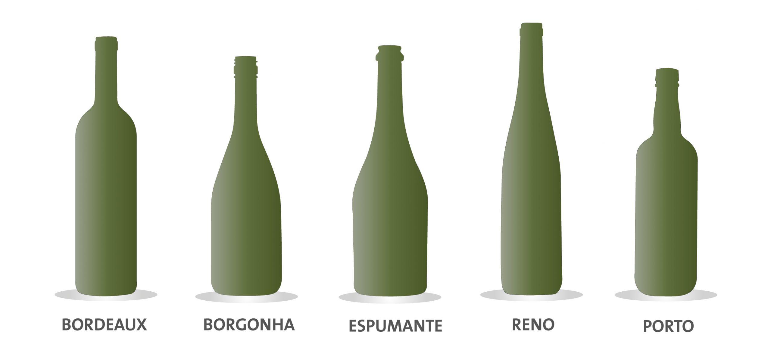 Conheça os tipos de garrafas para vinhos e espumantes